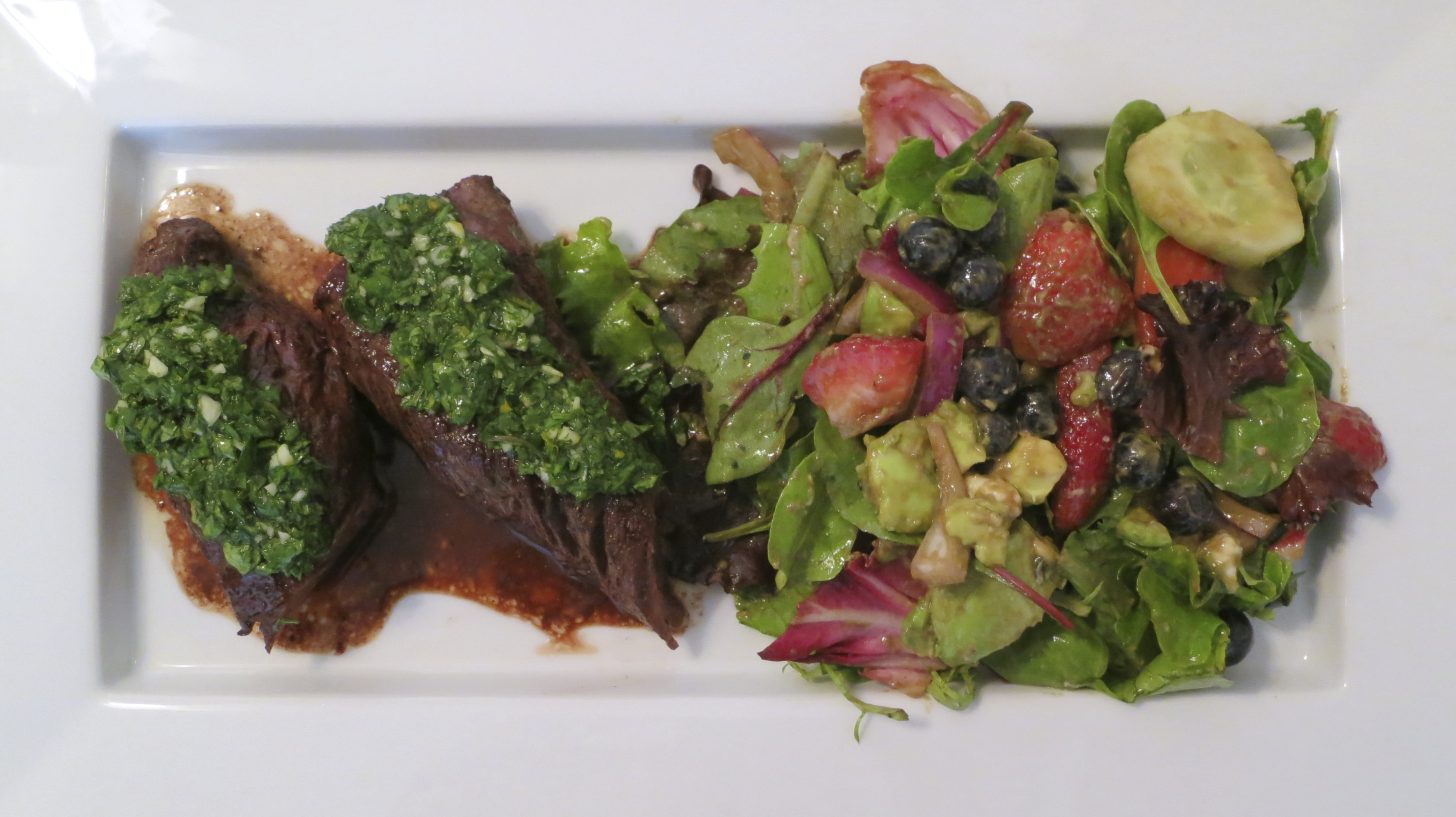 Grilled Tender Hanger Steak Smothered In Vibrant Tangy ...